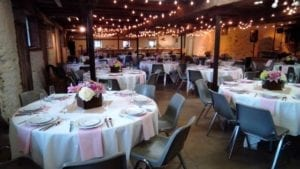 Wedding Dates Available - Bistro Lighting - Barn Wedding - The Barn at Stratford - Event Venue - Delaware Ohio