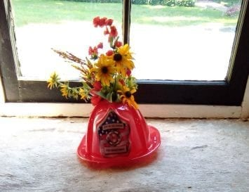 Fire Helmet Centerpiece