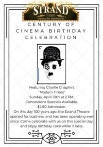 Century of Cinema Birthday Celebration - April 10 2016 - Delaware Ohio