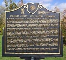 Anti-Slavery Marker - Underground Railroad - Delaware County Ohio