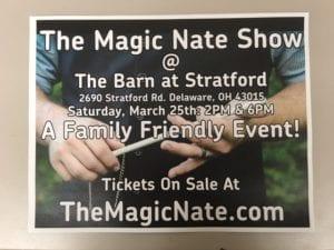 The Magic Nate Show - Magician - The Barn at Stratford - Event Venue - Delaware Ohio