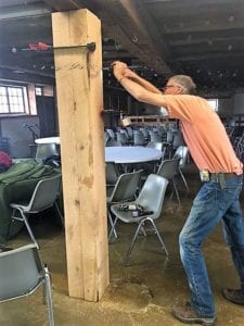Restored Barn Posts - Historic Barn Wedding Venue - The Barn at Stratford - Delaware Ohio