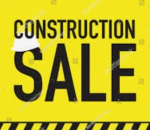 Construction Sale - The Barn at Stratford - Event Venue - Barn Weddings - Delaware Ohio