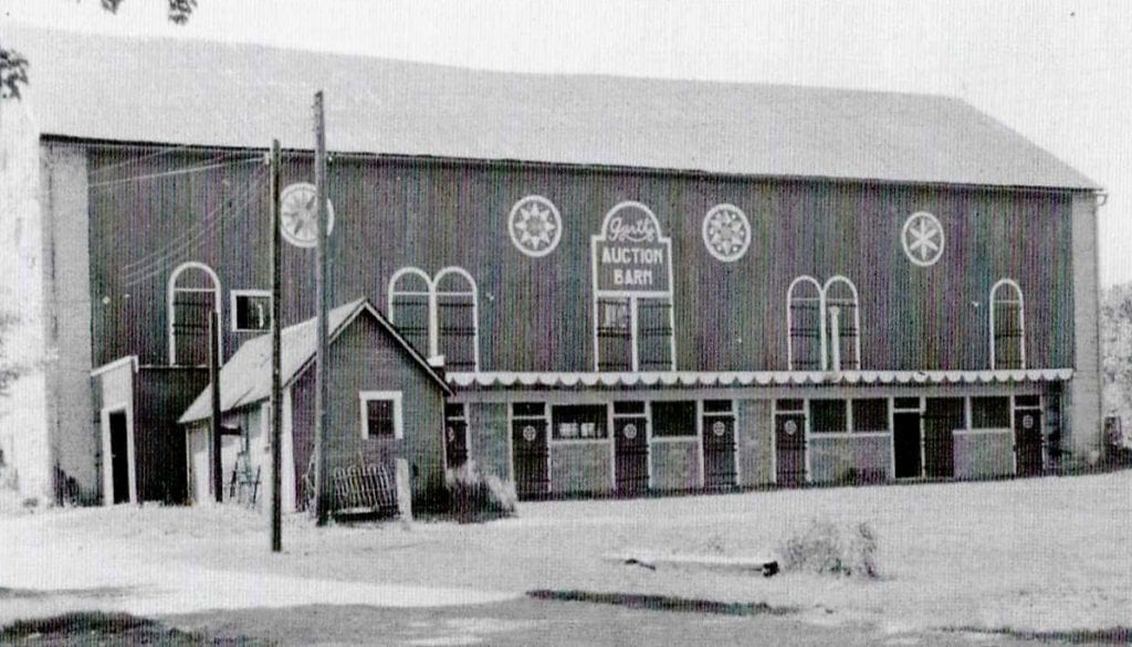 Historical Buildings - Garth's Auction Barn 1950's - The Barn at Stratford - Event Venue - Delaware Ohio
