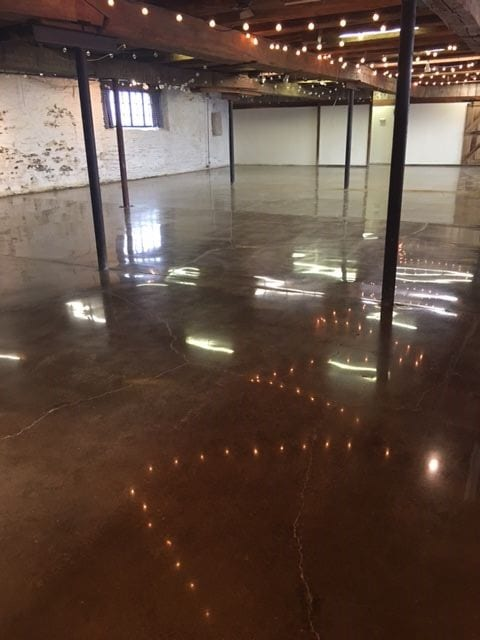 Shiny Refinished Floors in The Barn at Stratford